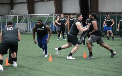2018 National Scouting Combine Day 1 Linebacker Drills