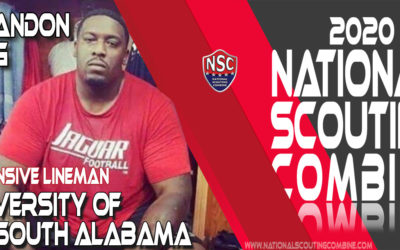 2020 National Scouting Combine Prospect Brandon King, OL from University of South Alabama