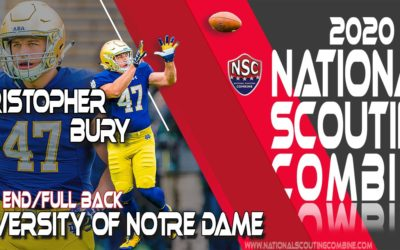 2020 National Scouting Combine Prospect Christopher Bury TE/FB from the University of Notre Dame