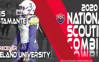 2020 National Scouting Combine Prospect Chris Bustamante, WR/RB from Lakeland University