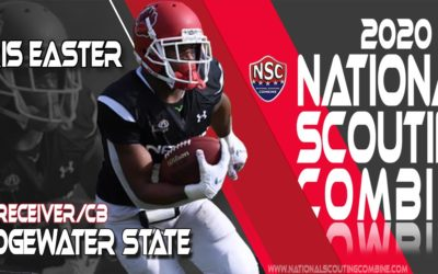 2020 National Scouting Combine Prospect Chris Easter, WR/CB from Bridgewater State