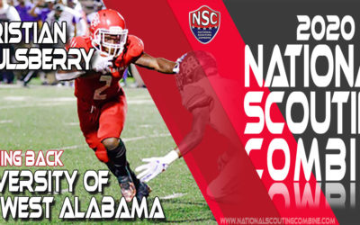 2020 National Scouting Combine Prospect Christian Saulsberry, RB from University of West Alabama