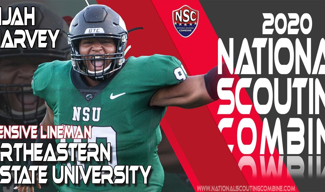 2020 National Scouting Combine Prospect Eli Harvey, NG/DT from Northeastern State University