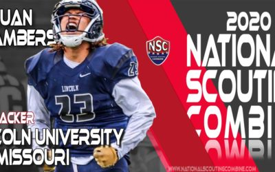 2020 National Scouting Combine Prospect Jajuan Chambers, LB from Lincoln university of Missouri