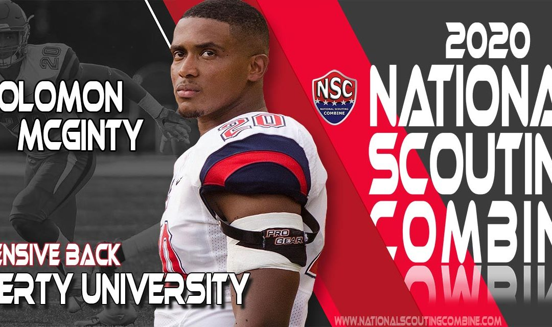 2020 National Scouting Combine Prospect Solomon McGinty, DB/LB from Liberty University