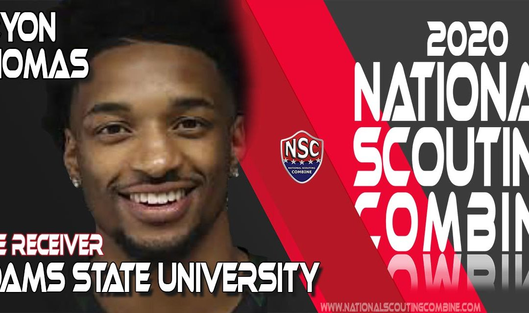 2020 National Scouting Combine Prospect Keyon Thomas, WR from Adams State University