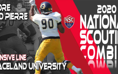 2020 National Scouting Combine Prospect Andre Bird Pierre, DL from Graceland University