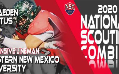 2020 National Scouting Combine Prospect Braeden X. Loftus, OL from Eastern New Mexico University