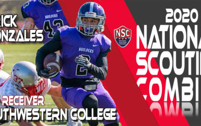 2020 National Scouting Combine Prospect Edrick Gonzales, WR from Southwestern College
