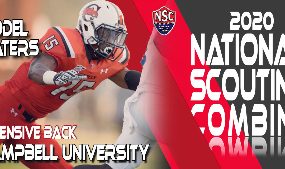 2020 National Scouting Combine Prospect Giddel Waters, DB from Campbell University
