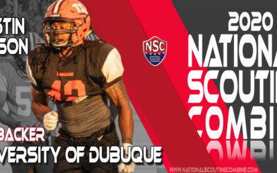 2020 National Scouting Combine Prospect Justin Wilson, LB from University of Dubuque