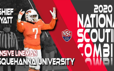2020 National Scouting Combine Prospect Kashief Hyatt, DL from Susquehanna University