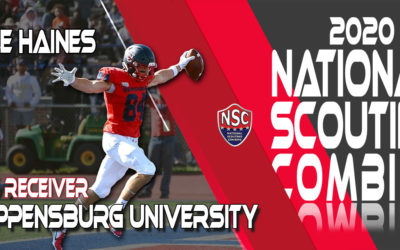 2020 National Scouting Combine Prospect Kyle Haines, WR from Shippensburg University