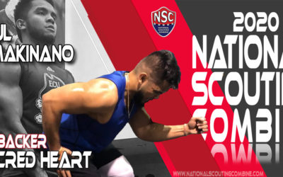 2020 National Scouting Combine Prospect Paul Makinano, LB from Sacred Heart