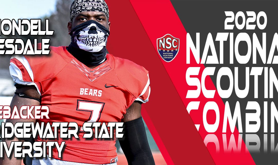 2020 National Scouting Combine Prospect Rhondell Teesdale, LB from Bridgewater State University