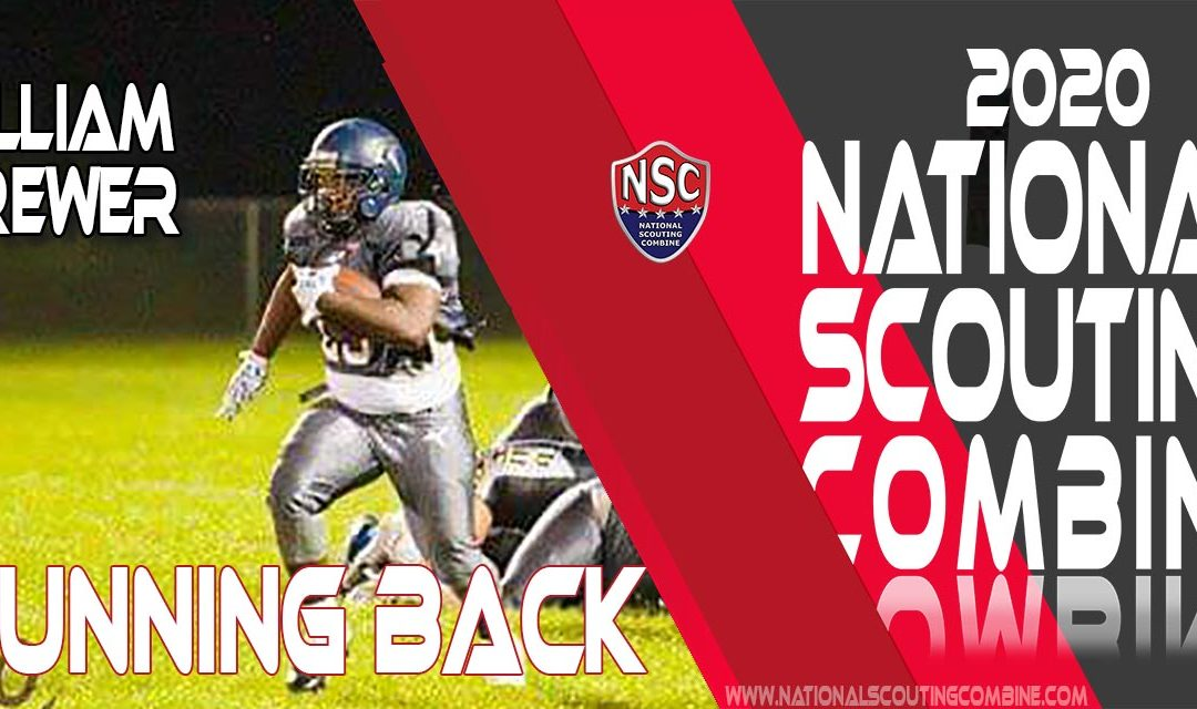 2020 National Scouting Combine Prospect Running Back William Brewer