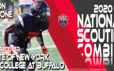 2020 National Scouting Combine Prospect Di'Jon Stone, WR from State of New York College at Buffalo