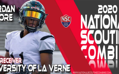 2020 National Scouting Combine Prospect Jordan Moore, WR from the University of La Verne