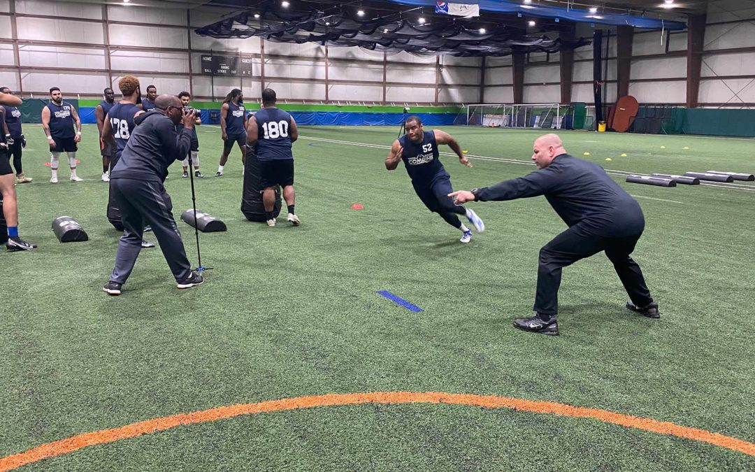 National Scouting Combine OL Drills