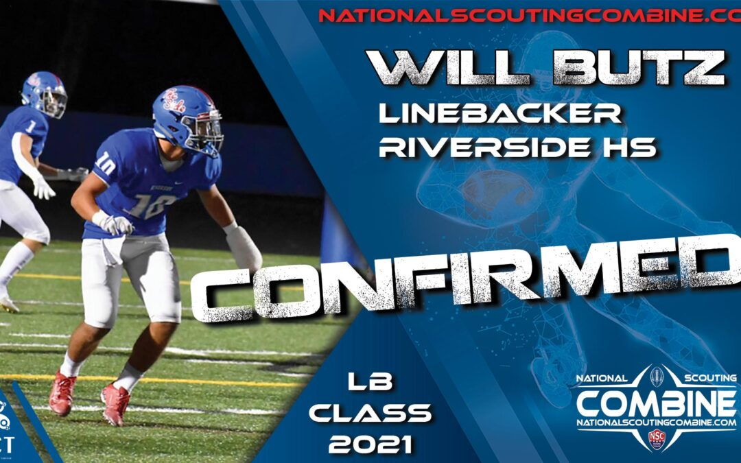 National Scouting Combine HS Prospect Will Butz, LB from Riverside High School
