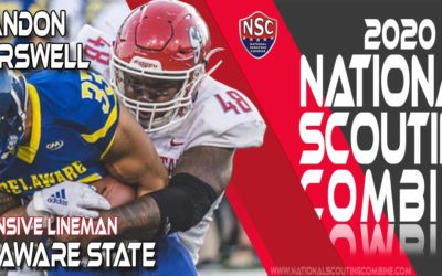 National Scouting Combine Prospect Brandon Carswell Sr., DL from Delaware State