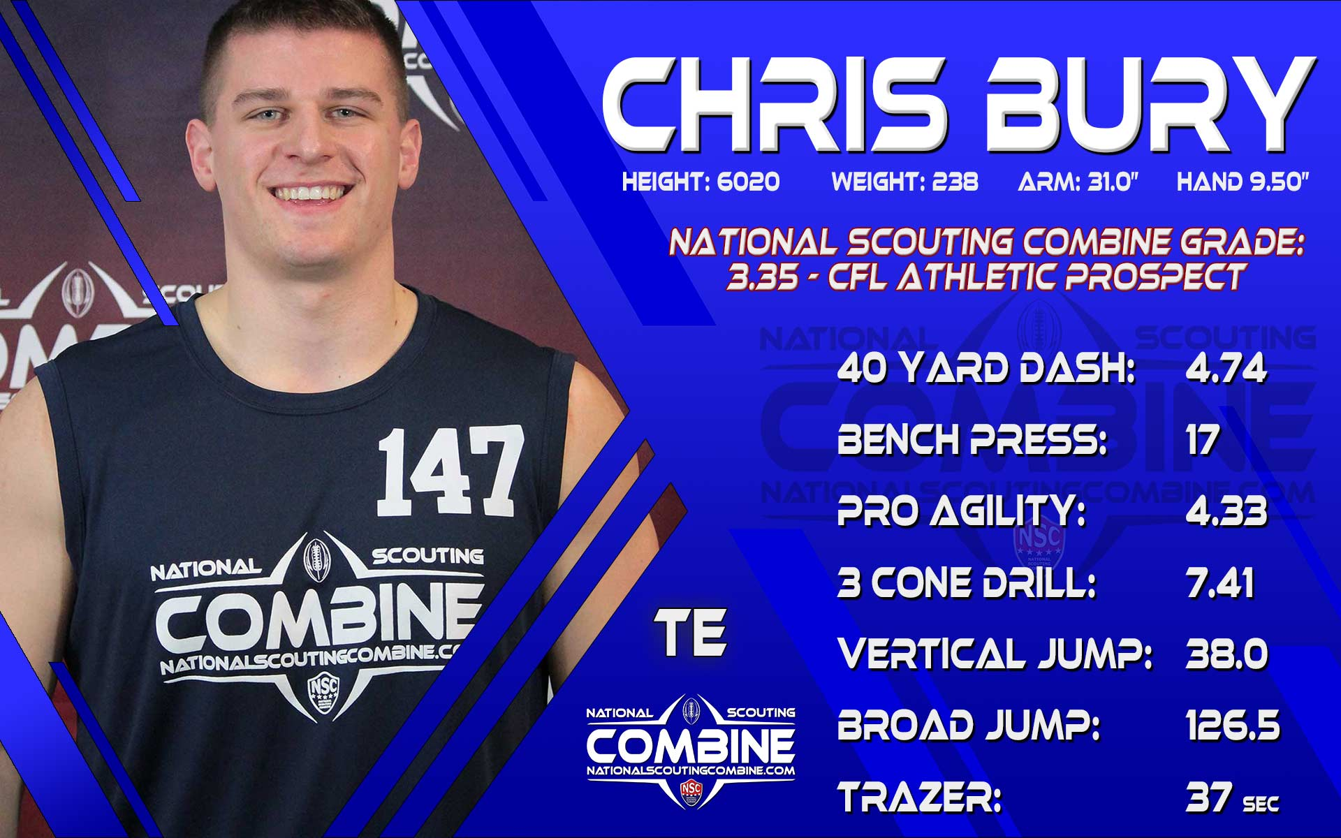 NSC SCOUTING REPORT: CHIRSTOPHER BURY