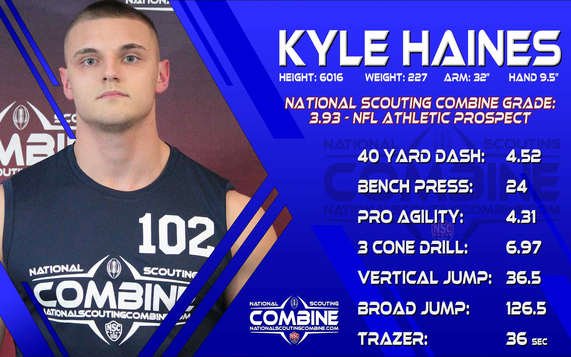 NSC SCOUTING REPORT: KYLE HAINES