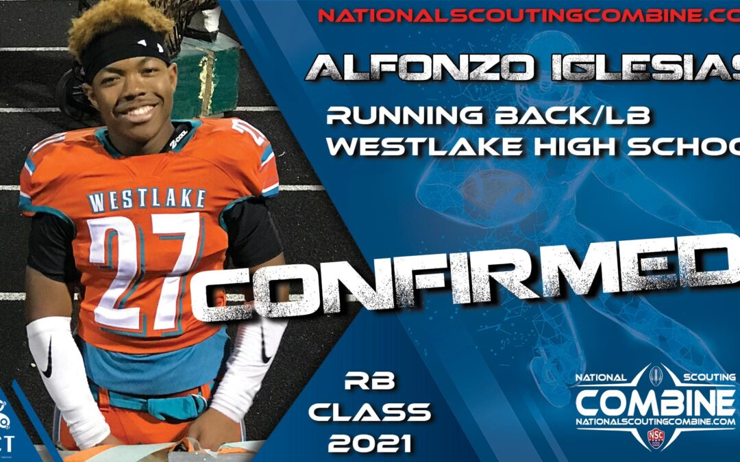 National Scouting Combine HS Prospect Alfonso Iglesias, RB/LB from Westlake HS