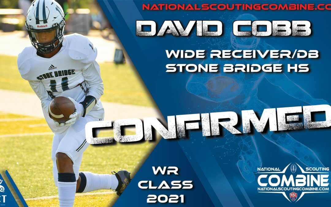 National Scouting Combine 2021 HS Prospect David Cobb, WR/DB from Stone Bridge HS
