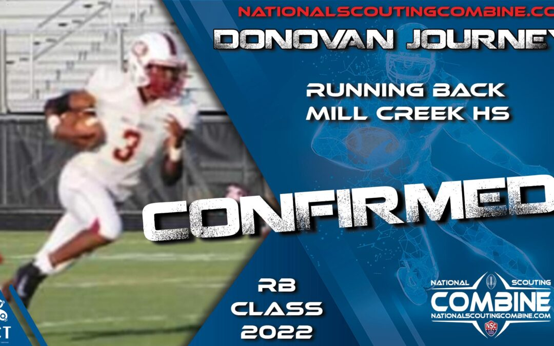 National Scouting Combine HS Prospect Donovan Journey, RB from Mill Creek High School
