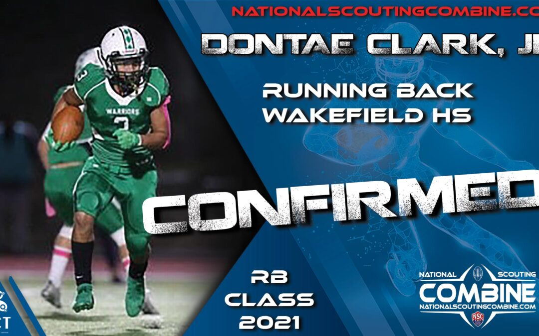 National Scouting Combine HS Prospect Dontae Clark Jr, RB from Wakefield High School