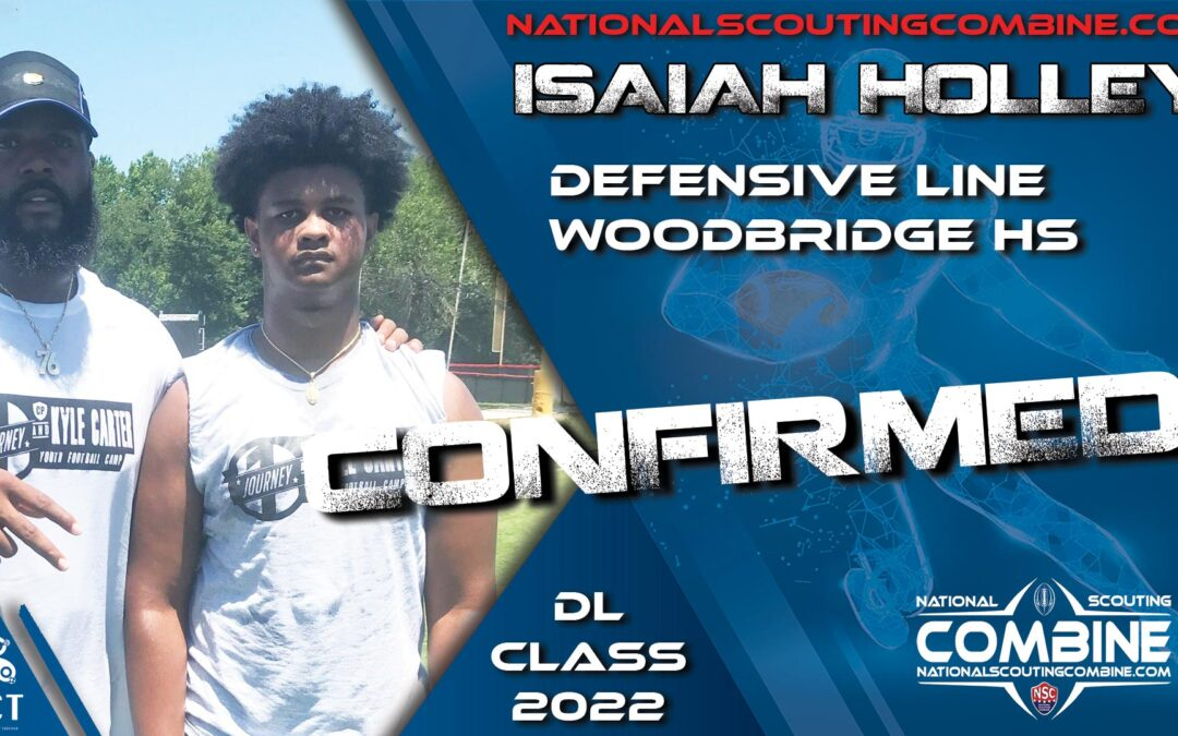 National Scouting Combine HS Prospect Isaiah Holley, DE from Woodbridge HS