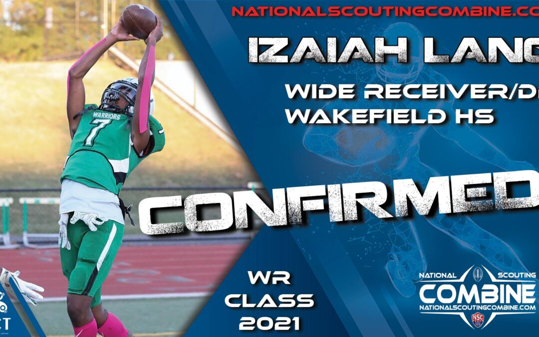 National Scouting Combine HS Prospect Izaiah Lang, WR from Wakefield HS