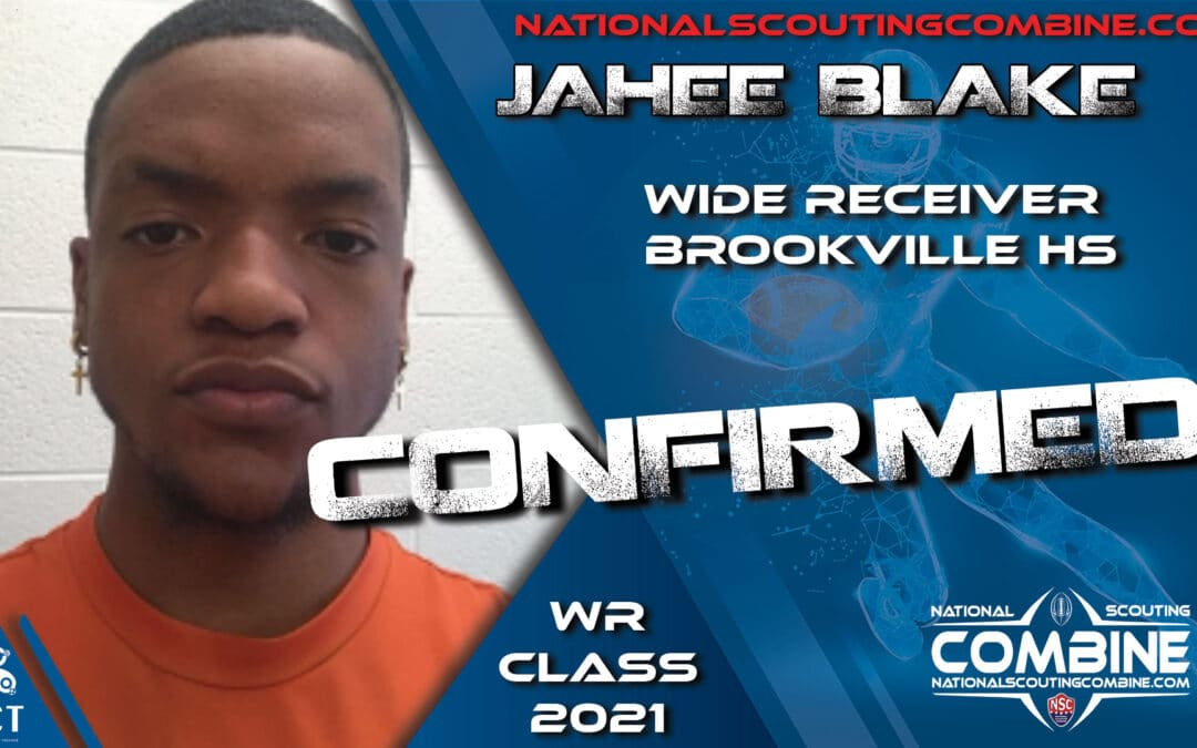 National Scouting Combine HS Prospect Jahee Blake, WR from Brookville High School