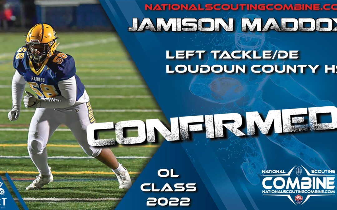 National Scouting Combine HS Prospect Jamison Maddox, LT/DE from Loudoun County High School