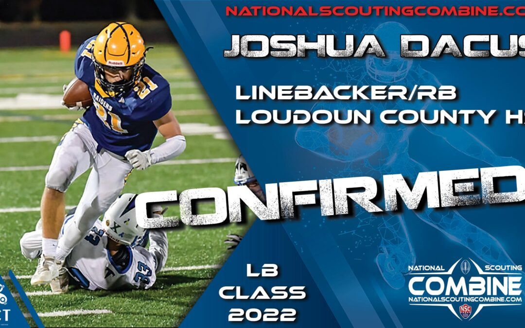 National Scouting Combine HS Prospect Joshua Dacus, LB/RB from Loudoun County HS