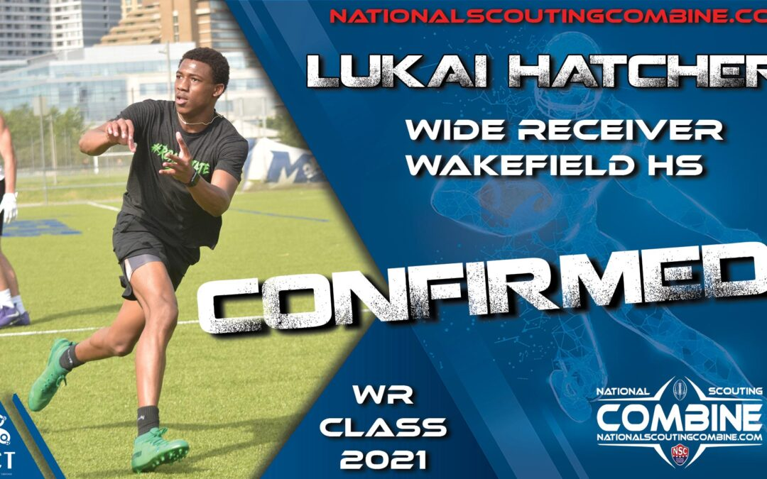 National Scouting Combine HS Prospect Lukai Hatcher, WR from Wakefield HS