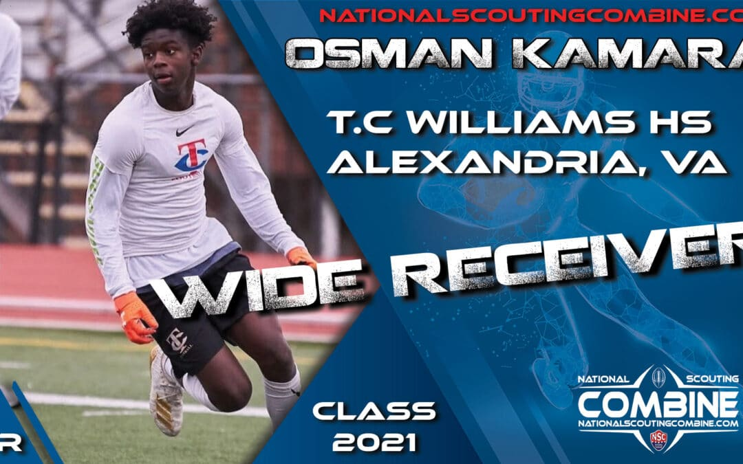 National Scouting Combine Prospect Osman Kamara, WR from T.C. Williams