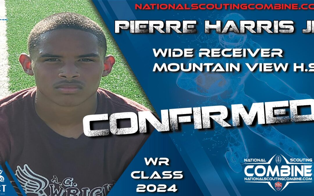 National Scouting Combine HS Prospect Pierre Harris, WR from Mountain View HS