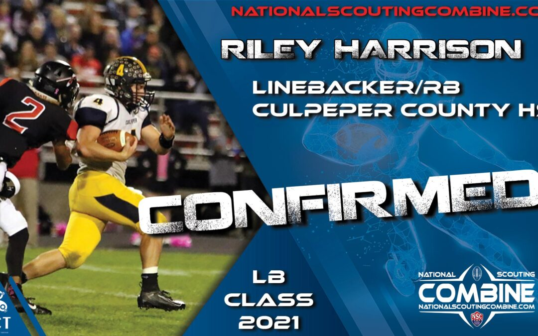 National Scouting Combine 2021 HS Prospect Riley Harrison, LB from Culpeper County HS