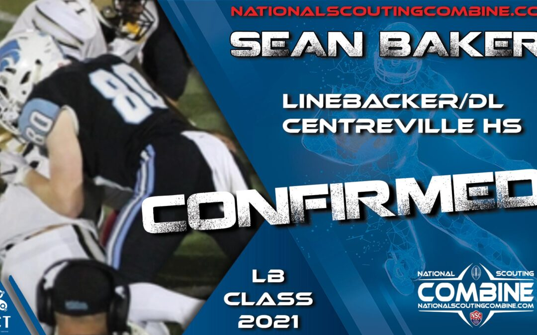 National Scouting Combine HS Prospect Sean Baker, LB & TE from Centreville HS