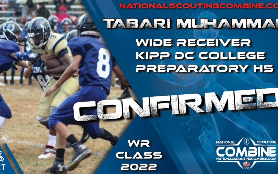 National Scouting Combine HS Prospect, Tabari Muhammad, WR from KIPP DC College Preparatory High School