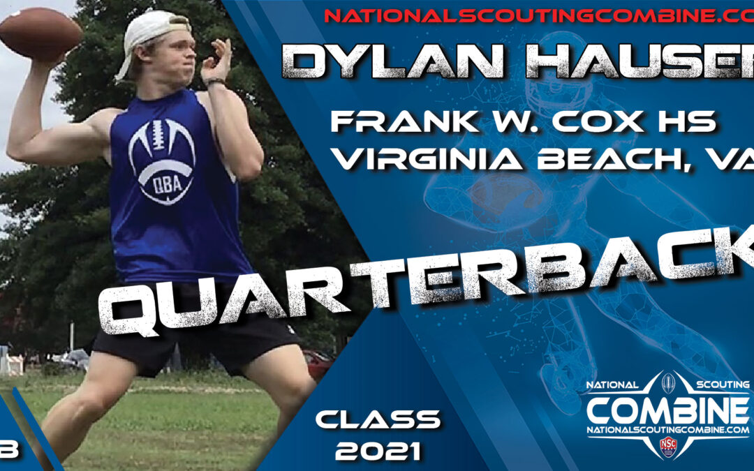 National Scouting Combine Prospect Dylan Hauser, QB from Frank W Cox High School