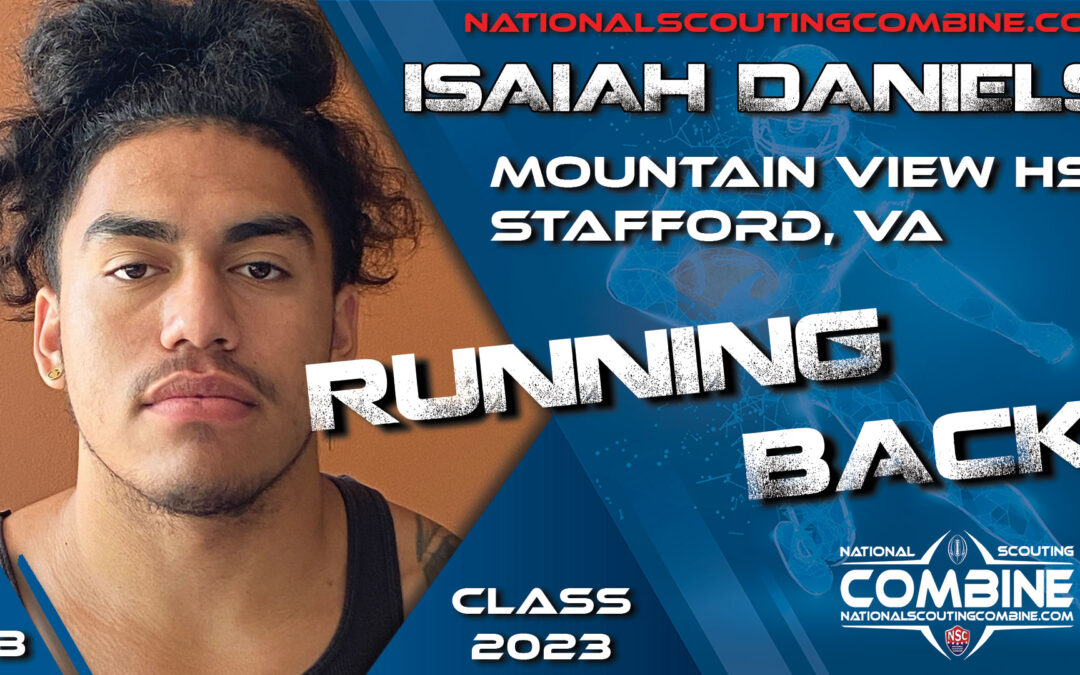 National Scouting Combine Prospect Isaiah Daniels, RB from Mountain View High School