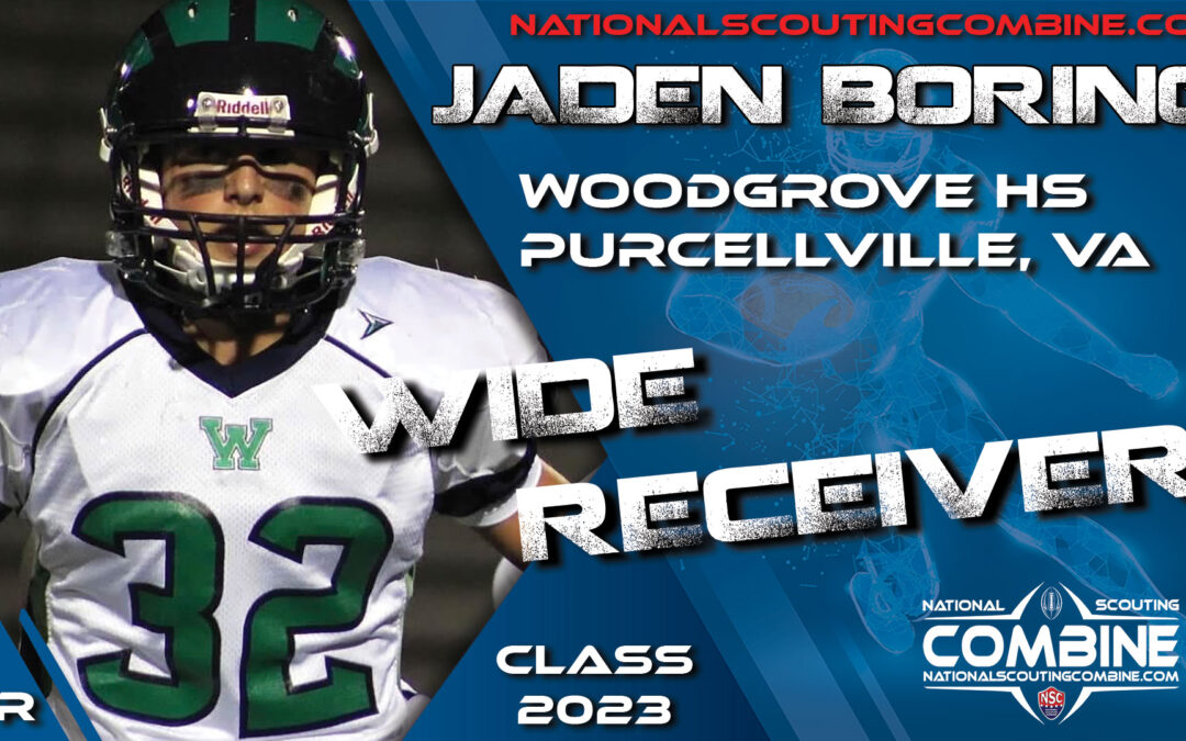 National Scouting Combine Prospect Jaden Boring, WR from Woodgrove High School