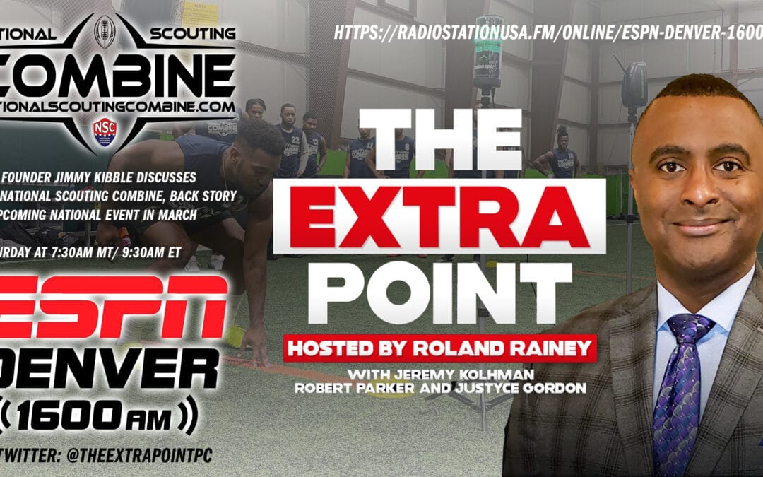 Jimmy Kibble interviewed by Roland Rainey from The Extra Point, ESPN Denver