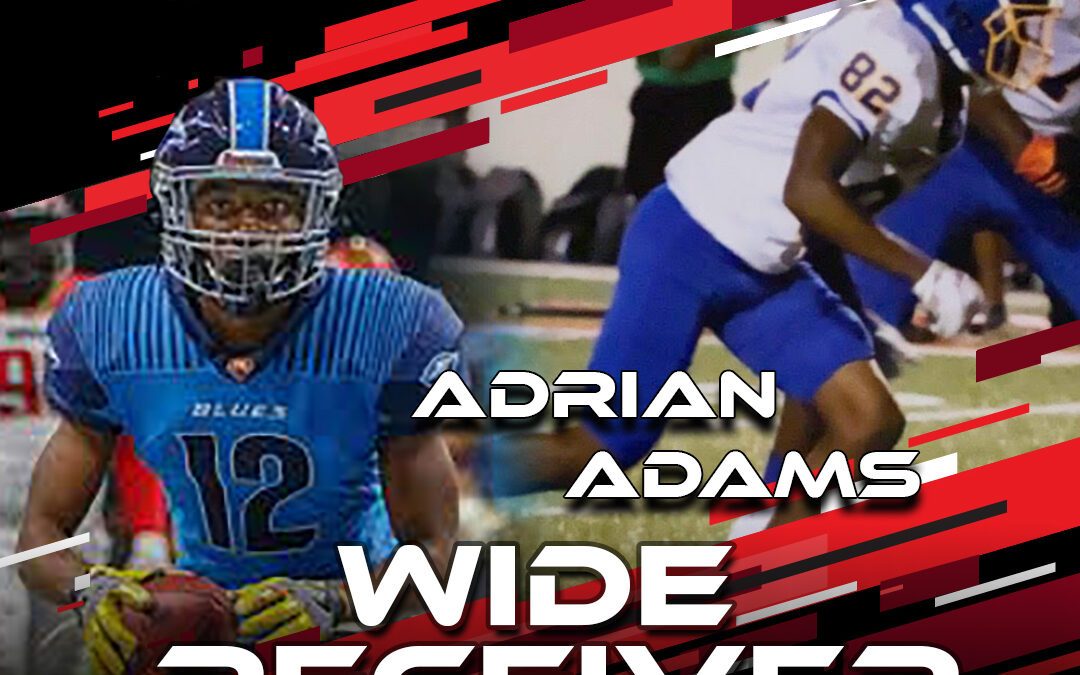 2021 National Scouting Combine Featured Athlete Adrian Adams, WR from Fort Valley State & Spring League
