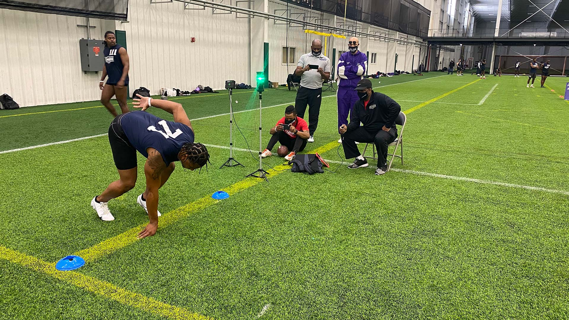 2021 National Scouting Combine DB Position Drills