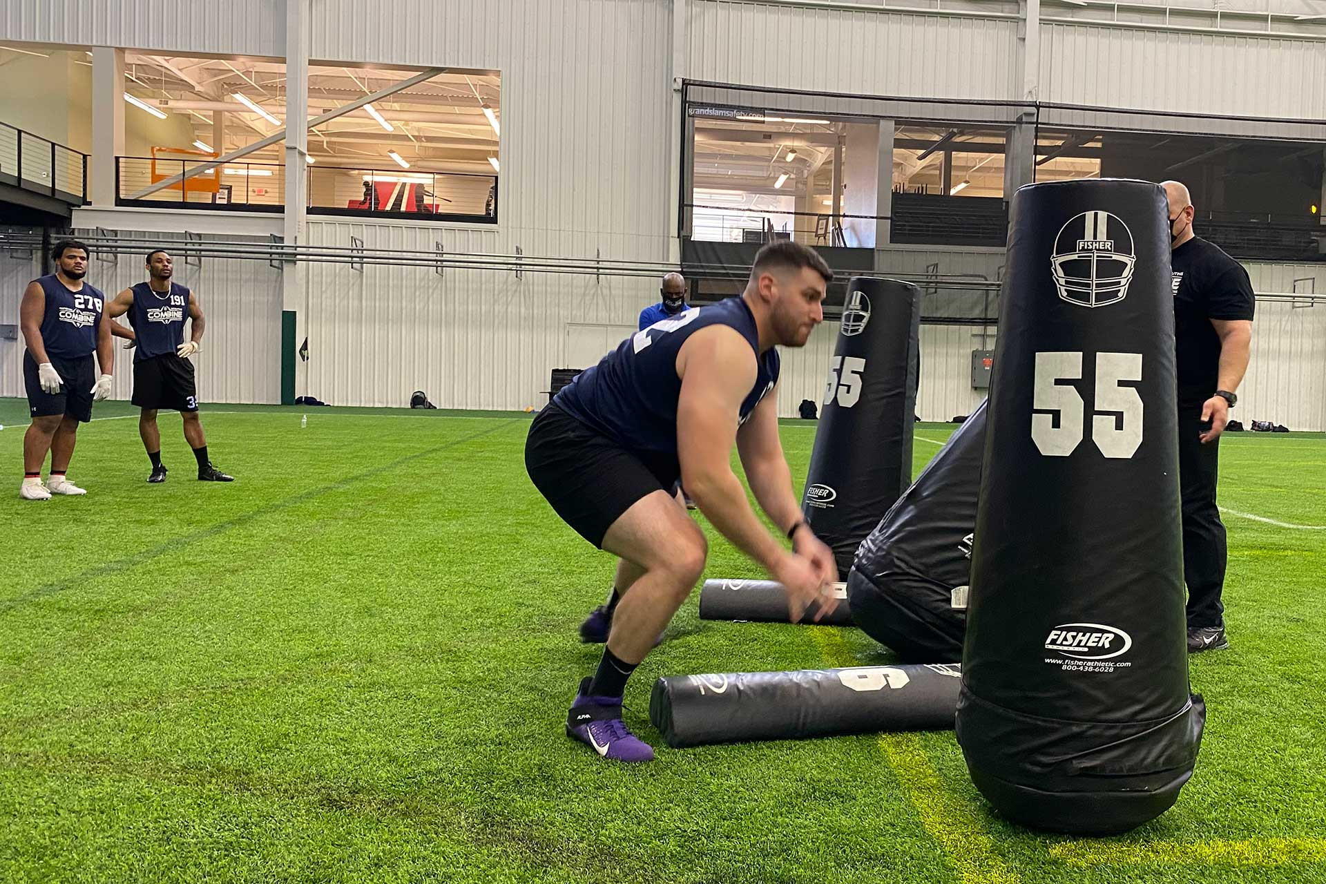 2021 National Scouting Combine OL and DL Position Drills