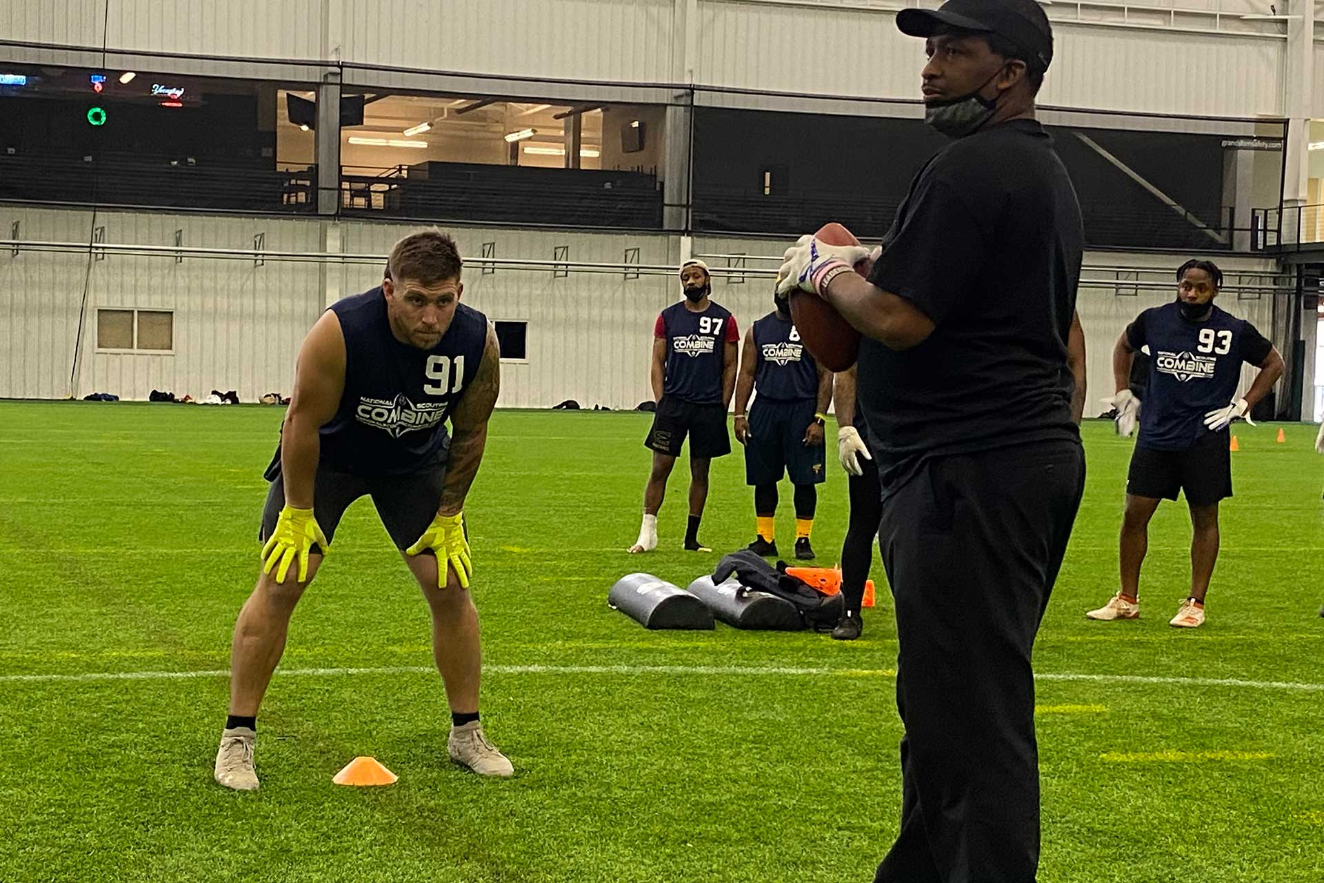 2021 National Scouting Combine RB Position Drills